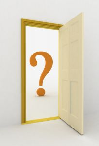 open door leading to a question mark