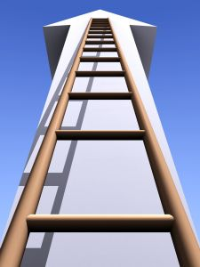 Ladder going up an arrow