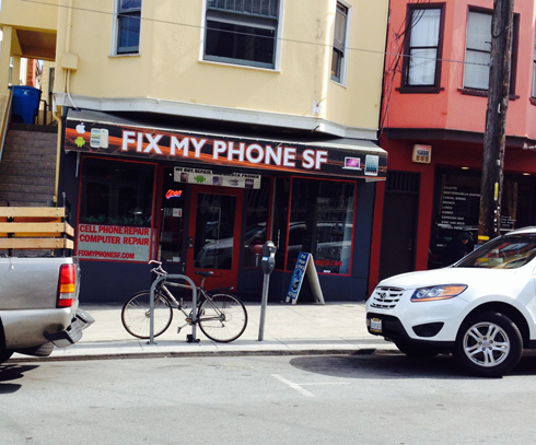A video store evolves to a cell phone repair store