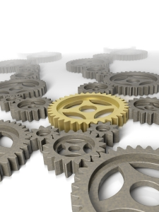 gears with yellowhighlighted gear in center